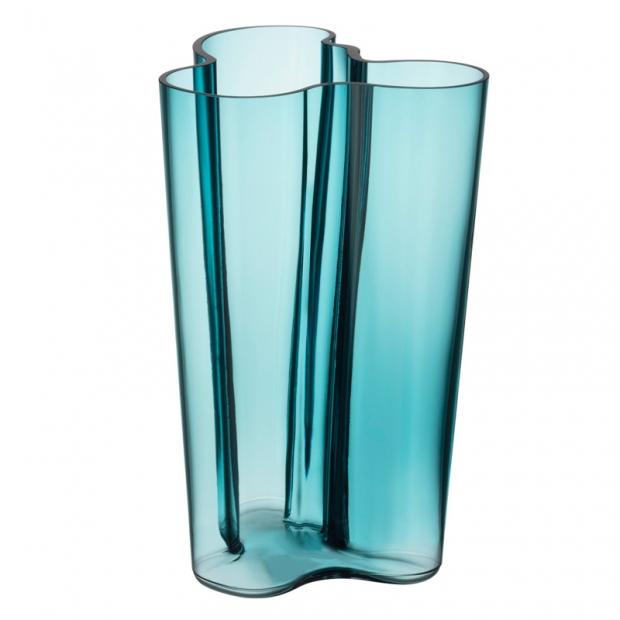 Váza Alvar Aalto 251mm, sea blue