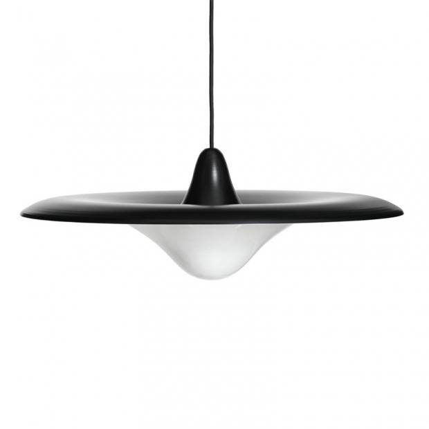 Závesná lampa Trek, čierna