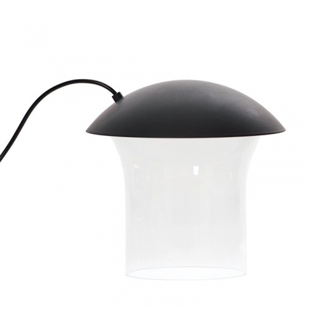 Stolná lampa Leiju S, tmavo sivá