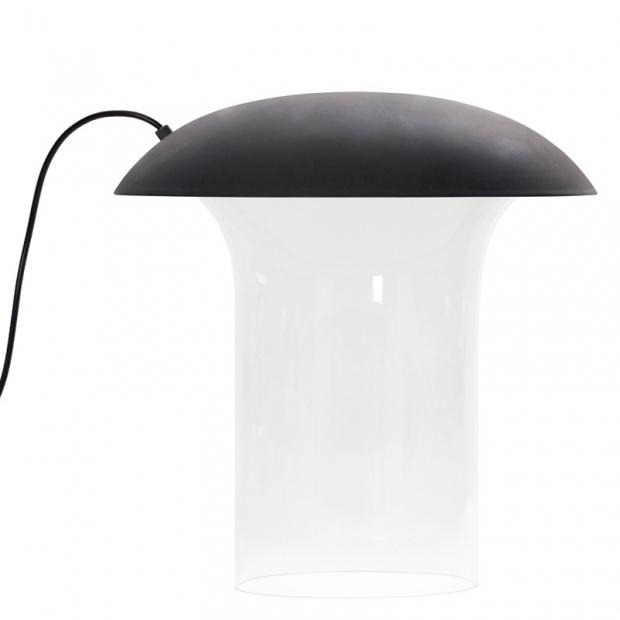Stolná lampa Leiju L, tmavo sivá
