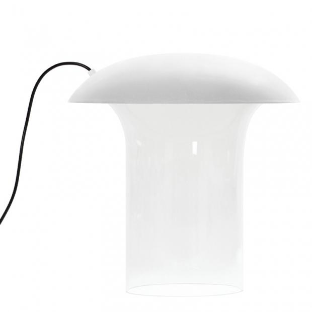 Stolná lampa Leiju L, biela