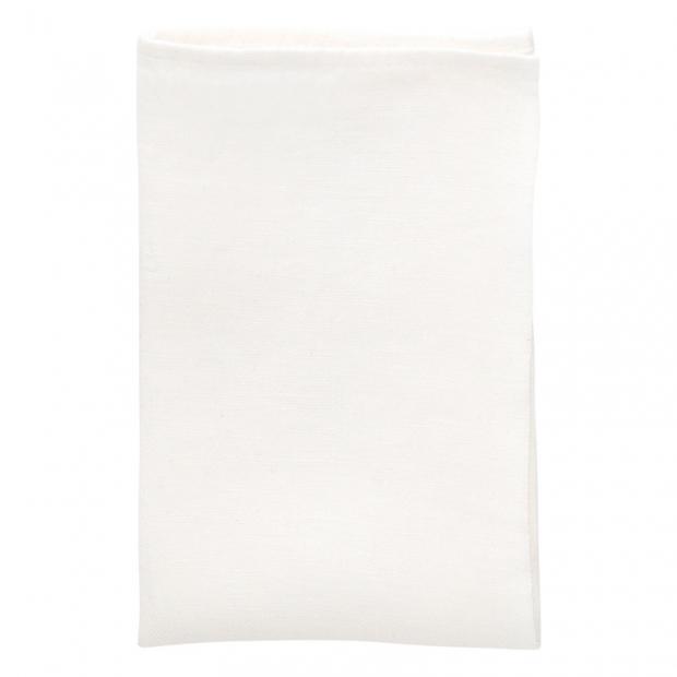 Lněný ubrousek Usva 47x47, bílý
