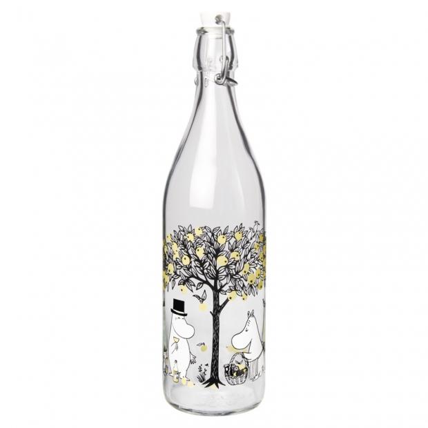 Sklenená fľaša Moomin Apples 1l