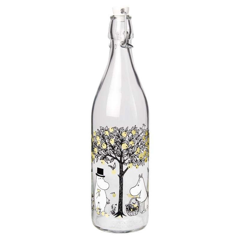 Skleněná lahev Moomin Apples 1l