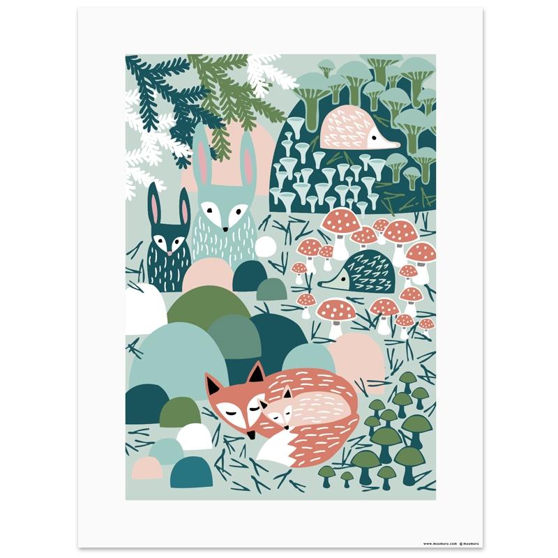 Plakát Metsänaapureiden kevät 30x40