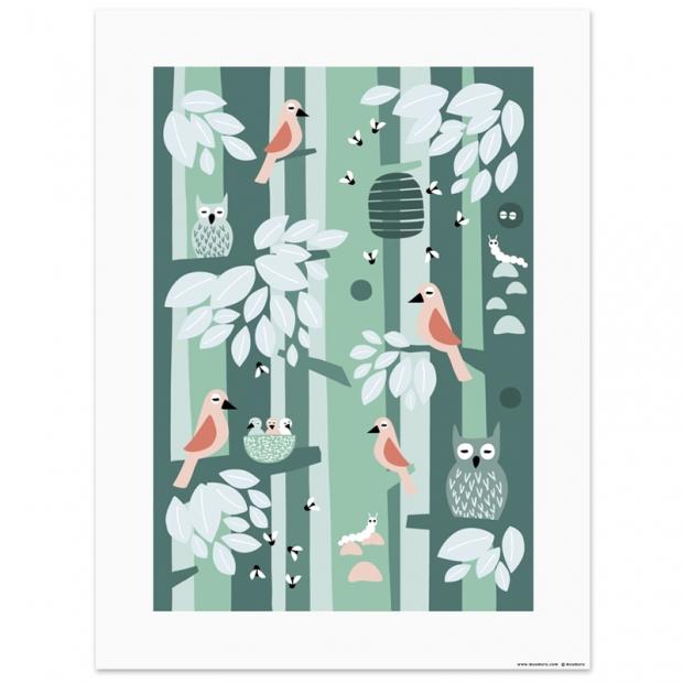 Plakát Keväinen lintukoto 30x40