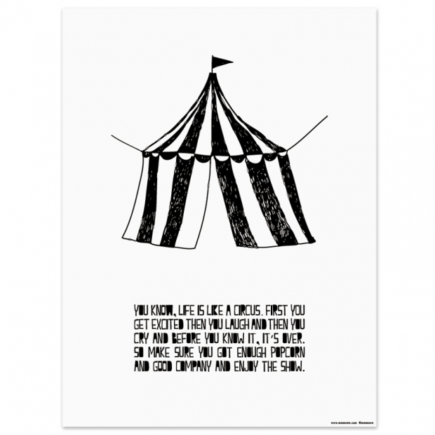 Plagát Life is like a Circus 30x40