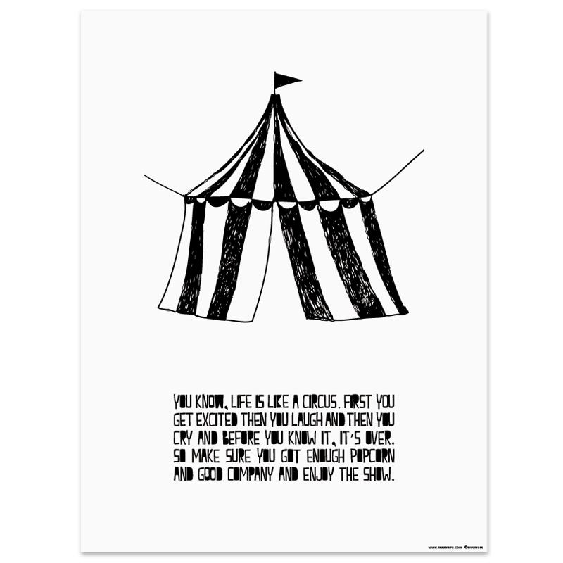 Plakát Life is like a Circus A3