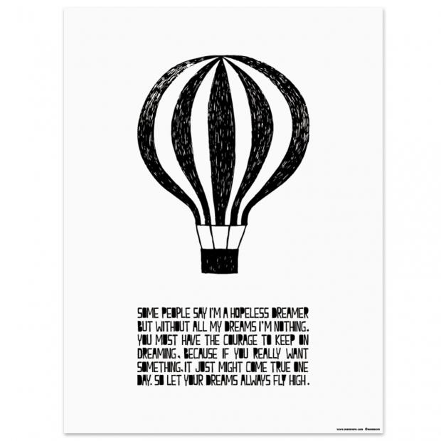 Plakát Balloon 30x40