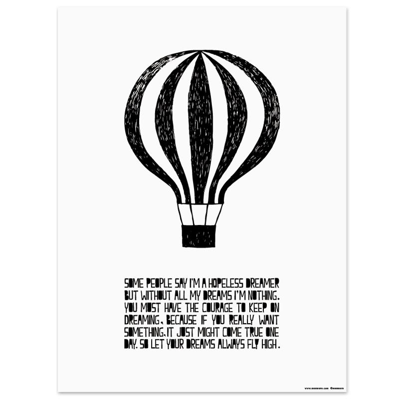 Plagát Balloon A3