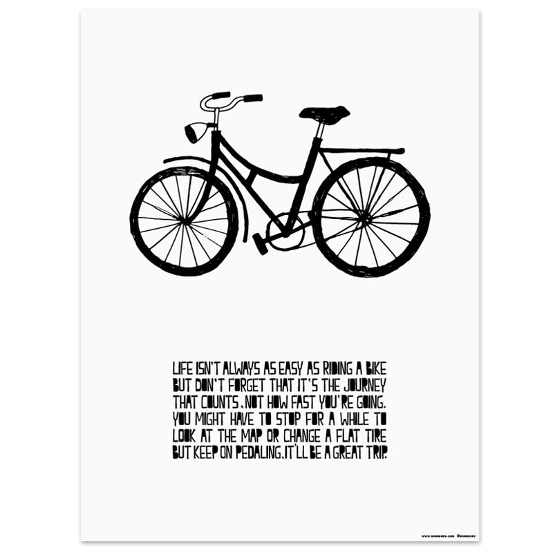 Plakát Life and Bike A3