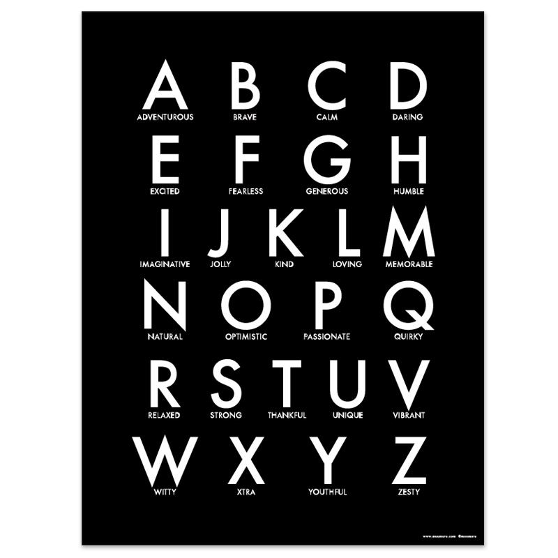 Plakát Blackboard Abc A3