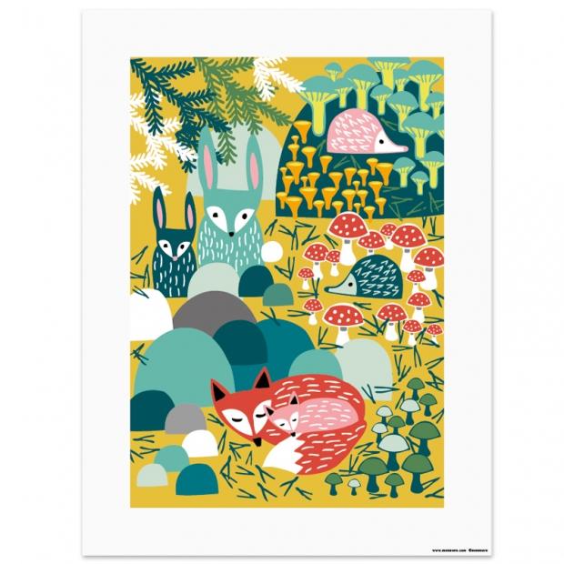 Plakát Metsänaapurit 30x40