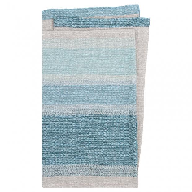 Lněná deka / ubrus Ruoste 150x260, len-modrá