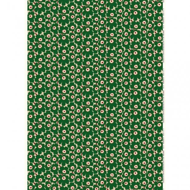 Látka Mini Unikko 10m, bavlna / hnědo-zelená