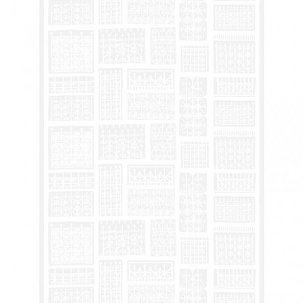 Látka Pariisin Portit 10m, bavlna / biela