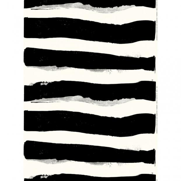 Látka Pieni Unikko 10m, bavlna / čiernobiela