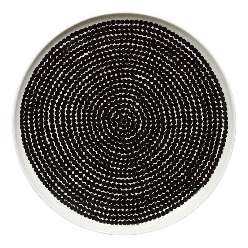 Talíř Oiva Räsymatto 25cm, černý