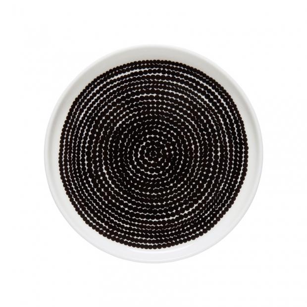 Talíř Oiva Siirtolapuutarha 13,5cm, černý