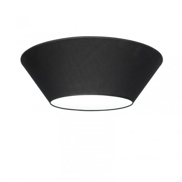 Stropní lampa Halo 70cm, černá
