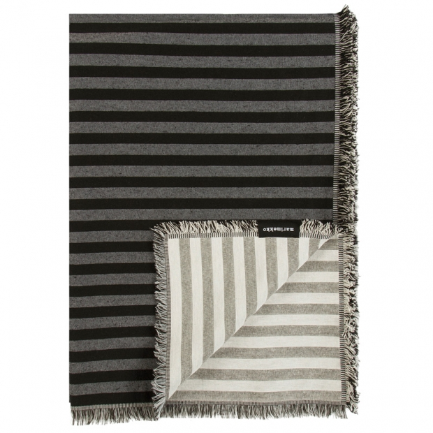 Bavlnená deka Tasaraita 130x180, čierno-biela