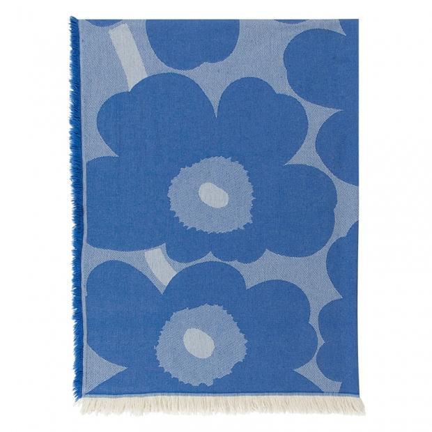 Bavlněná deka Unikko 130x180, modrá