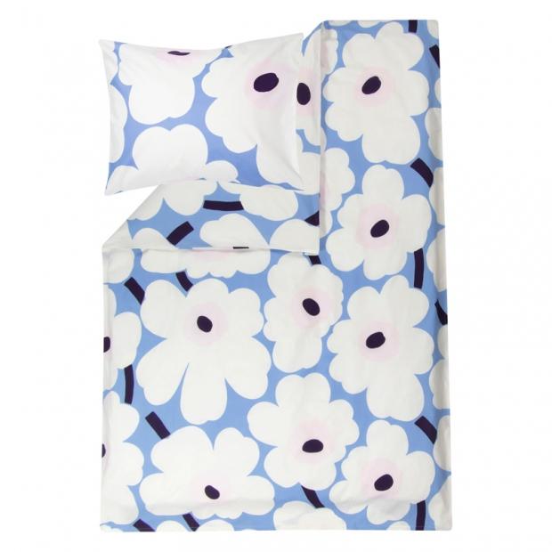 Obliečky Unikko 150x210, modro-ružové
