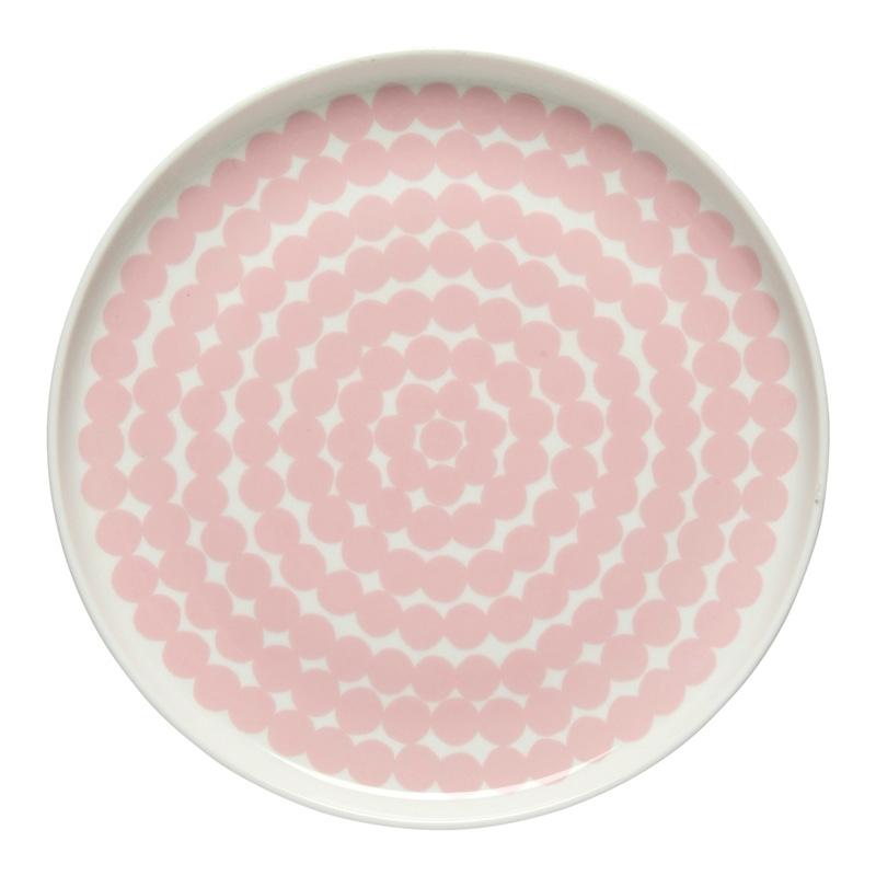 Talíř Oiva Siirtolapuutarha 20cm, růžový