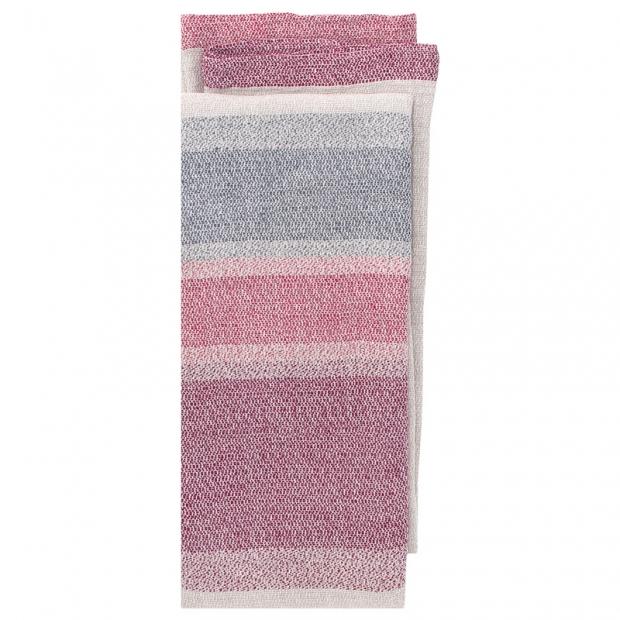 Lněná deka / ubrus Ruoste 150x260, len-červená-šedá
