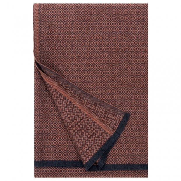 Merino deka Koli 135x170, škoricovo-čierna
