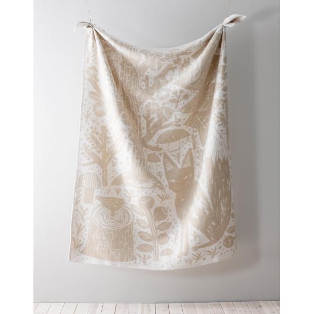 Vlnená deka Metsikkö 90x130, zlato-biela