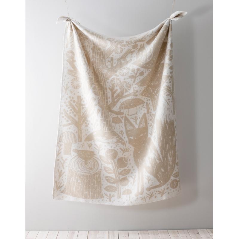 Vlněná deka Metsikkö 130x180, zlato-bílá