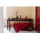 Mohérová deka Revontuli 130x170, červeno-oranžová