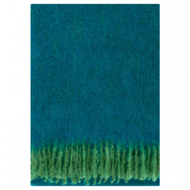 Mohérová deka Revontuli 130x170, zeleno-petrolejová