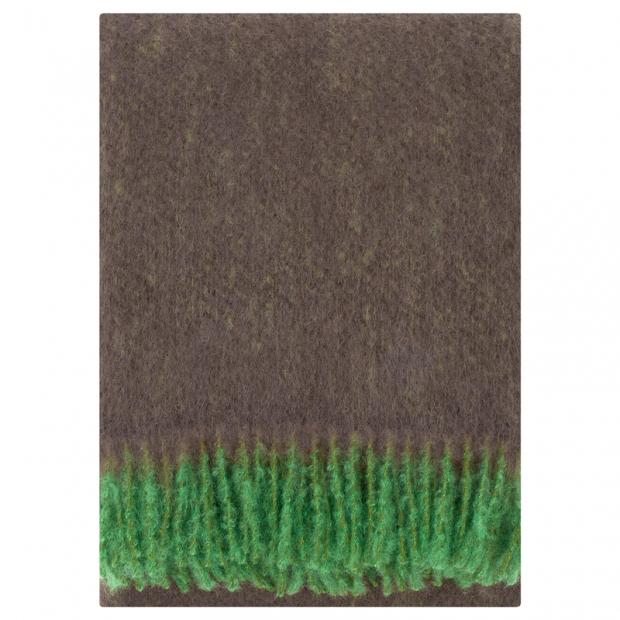 Mohérová deka Revontuli 130x170, zeleno-hnědá
