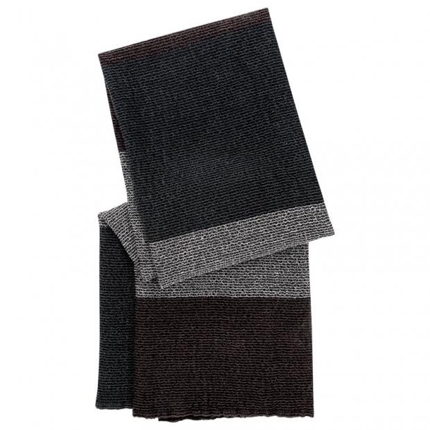 Ručník Terva, černo-šedo-hnědý