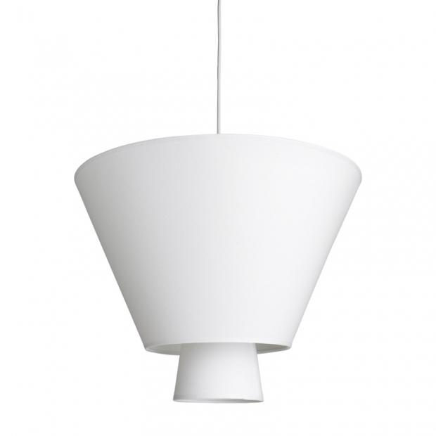Závesná lampa Hehku, biela