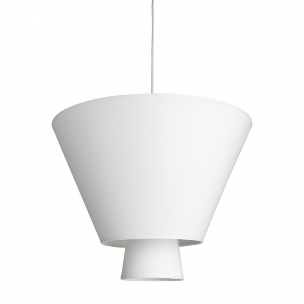 Závěsná lampa Hehku, bílá