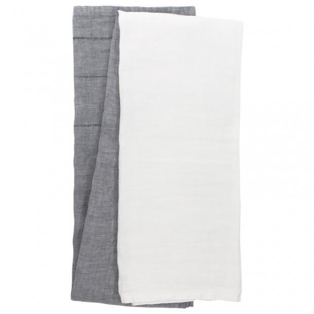 Ručník Tsavo, šedo-bílý