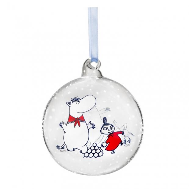 Vianočná ozdoba Moomin & Snorkmaiden