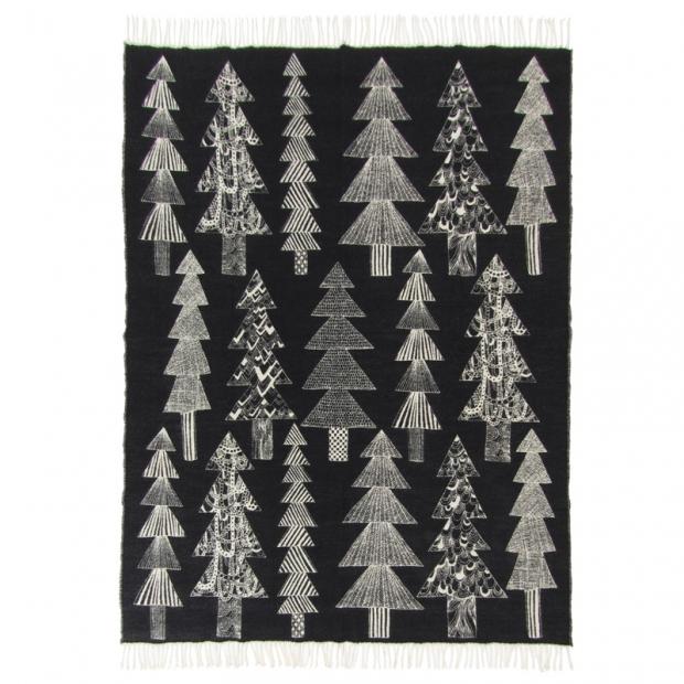 Bavlněná deka Kuusikossa 130x170, černo-bílá
