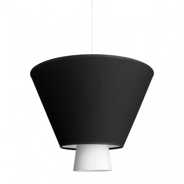 Závěsná lampa Hehku, černá