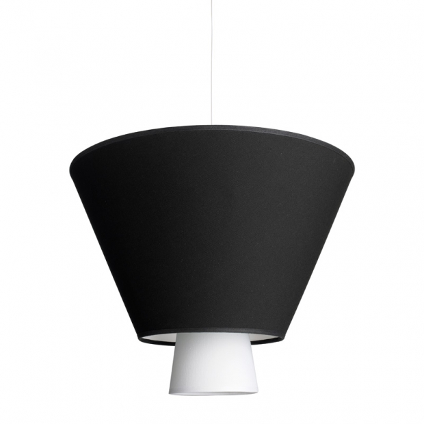 Závesná lampa Hehku, čierna