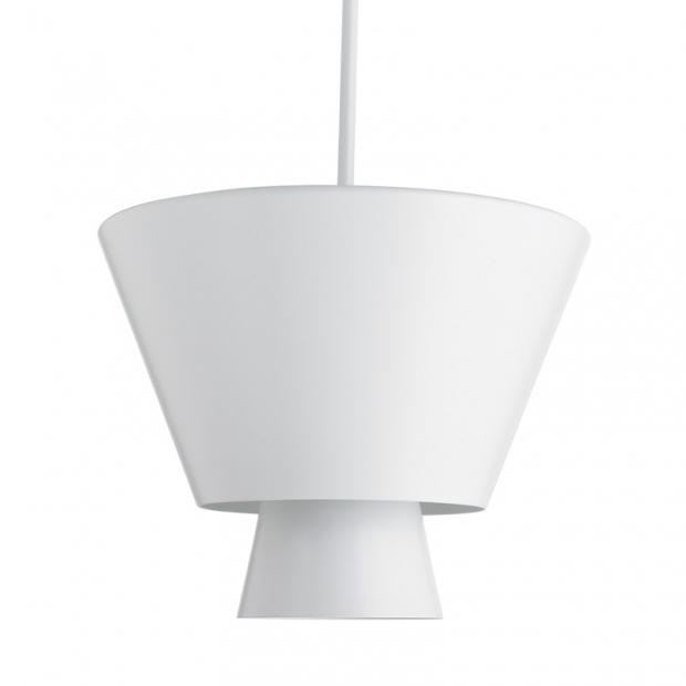 Závesná lampa Loiste, biela