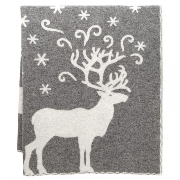 Vlnená deka Valkko 130x180, sivá