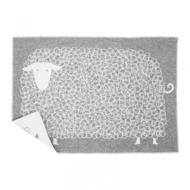 Vlnená deka Kili 65x90, sivá