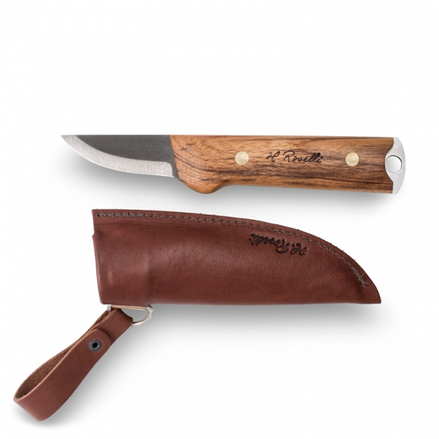 Fínsky nôž Roselli Wootz Small Heimo 20,5cm / dárkový set