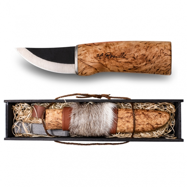 Fínsky nôž Roselli 17cm, sobia kožušina / dárkový set