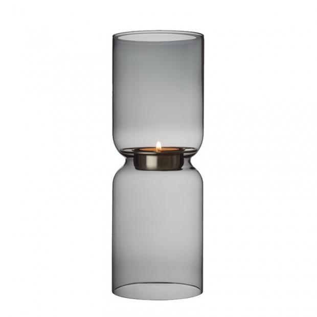 Svícen Lantern, 25cm, tmavě šedý