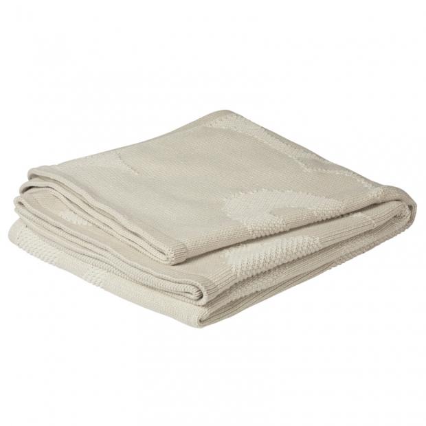 Bavlněná deka Unikko 130x170, úplet / bílá